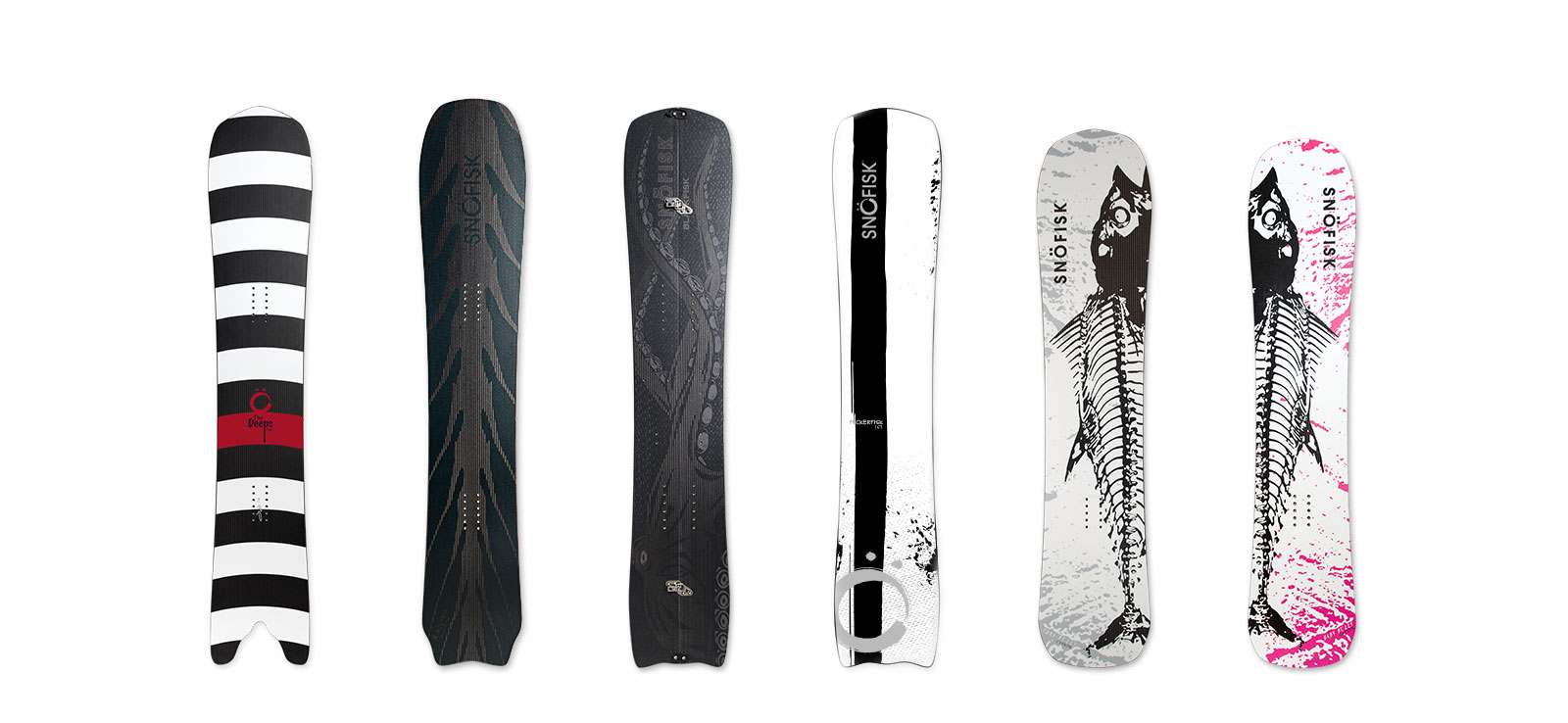 Snöfisk 2018 carbon fiber snowboards for all mountain and powder riding